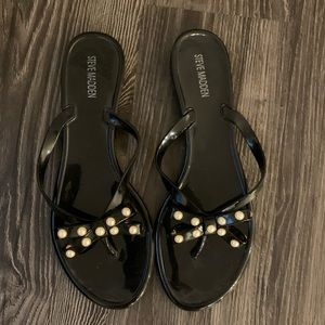 Steve Madden pearl bow sandals size 9